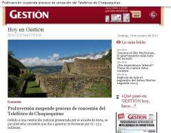 DEMANDA CONSTITUCIONAL FRENA CHOQUEQUIRAO