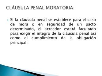 CONTRATO CON CLÁUSULA PENAL MORATORIA